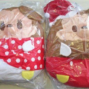 "Mickey & Minnie Mouse Christmas Plush 16"" Disney"
